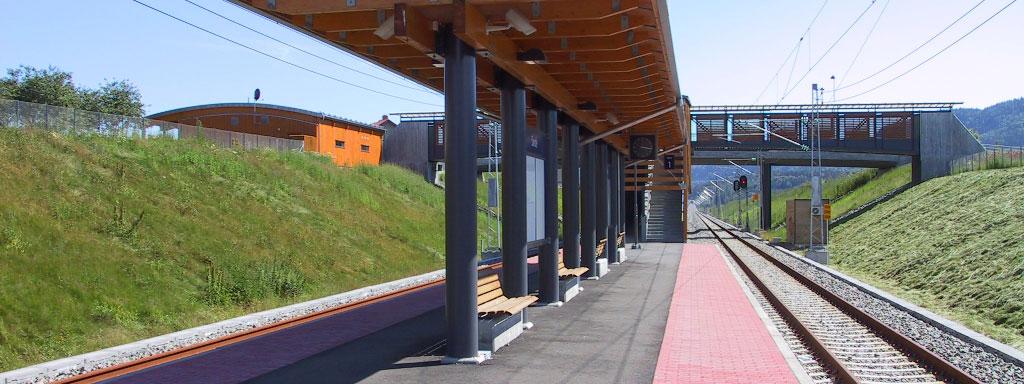 Togspor i Sande. Foto.