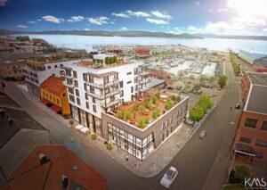 Bilde av boligprosjekt Holmestrand sentrum. Foto.